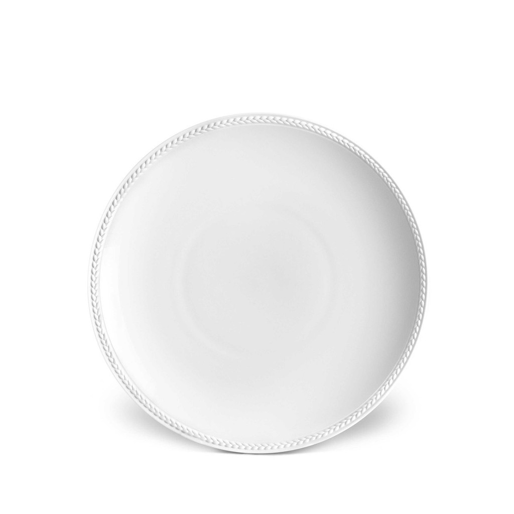 L'Objet Soie Tressee Soup Plate 9 Inch - White MPN: ST130
