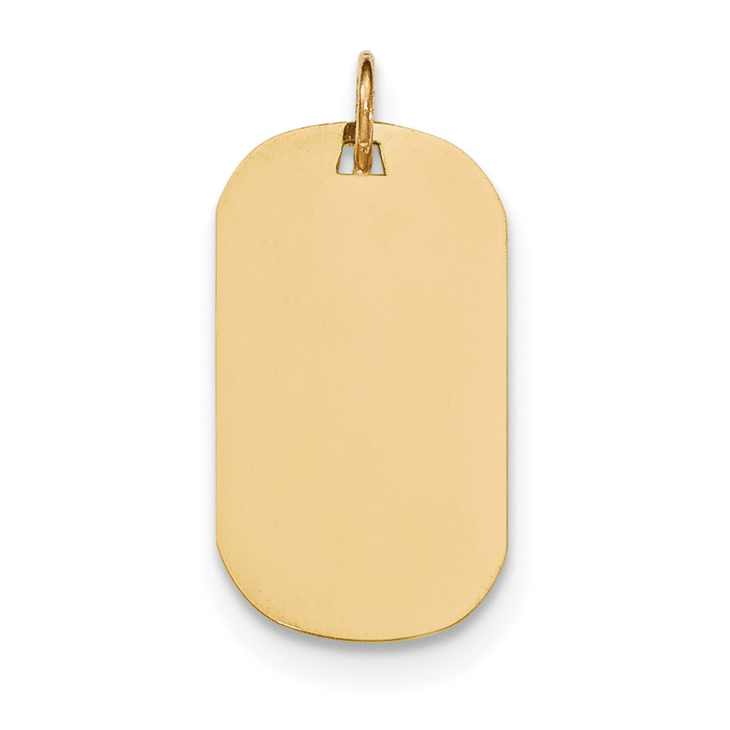 0.018 Gauge Engravable Dog Tag Disc Charm 14k Gold Plain MPN: XM552/18 UPC: 191101453830