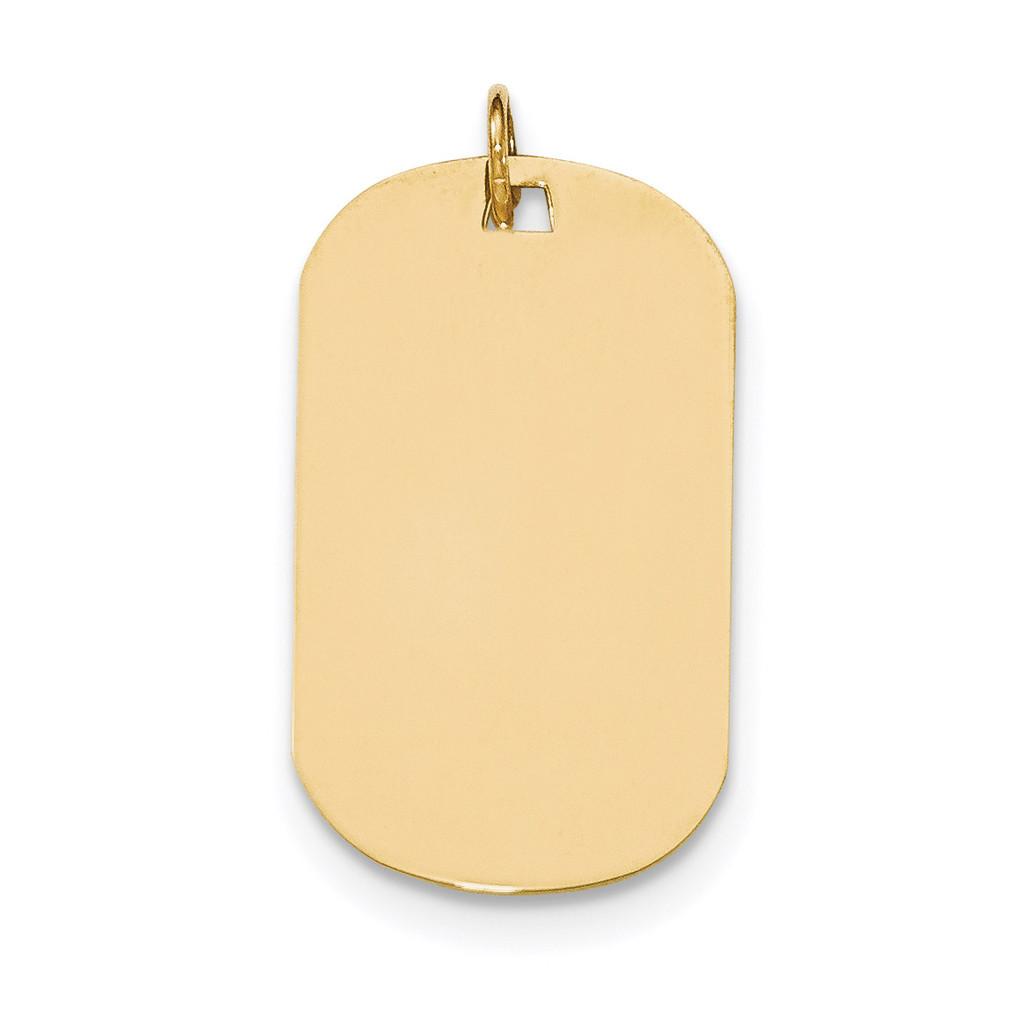 0.011 Gauge Engravable Dog Tag Disc Charm 14k Gold Plain MPN: XM555/11 UPC: 191101453854
