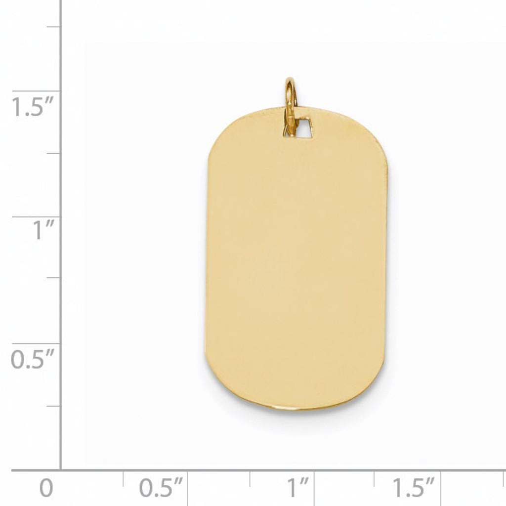 0.011 Gauge Engravable Dog Tag Disc Charm 14k Gold Plain XM555/11
