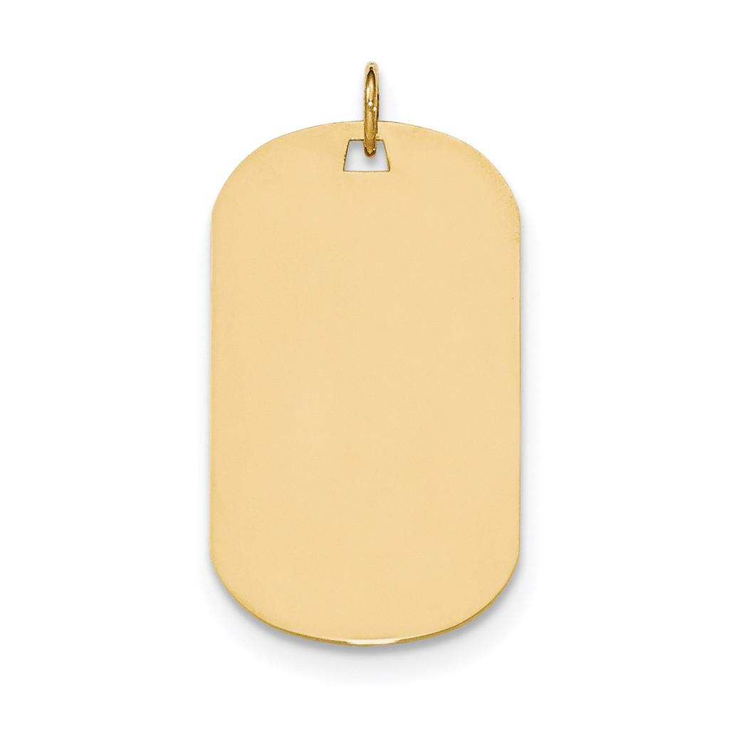 0.018 Gauge Engravable Dog Tag Disc Charm 14k Gold Plain MPN: XM556/18 UPC: 191101366420
