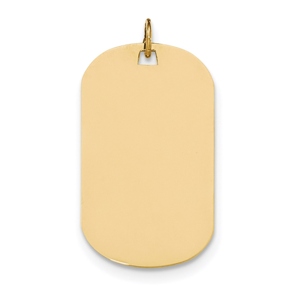 0.018 Gauge Engravable Dog Tag Disc Charm 14k Gold Plain MPN: XM557/18 UPC: 191101453878