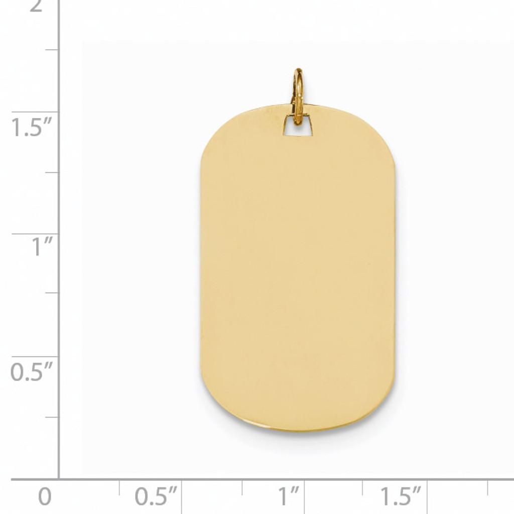 0.018 Gauge Engravable Dog Tag Disc Charm 14k Gold Plain XM557/18