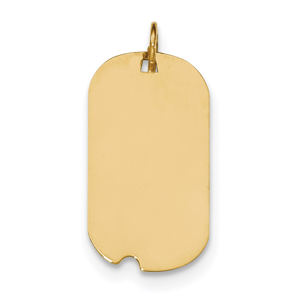 0.009 Gauge Engravable Dog Tag with Notch Disc Charm 14k Gold Plain MPN: XM560/09 UPC: 191101368165