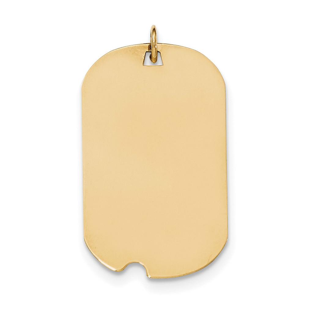 0.013 Gauge Engravable Dog Tag with Notch Disc Charm 14k Gold Plain MPN: XM564/13 UPC: 191101457913