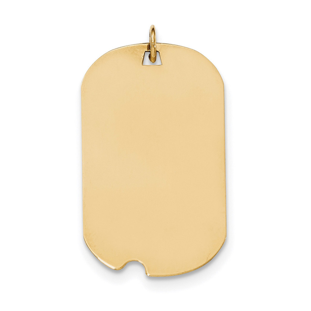 0.018 Gauge Engravable Dog Tag with Notch Disc Charm 14k Gold Plain MPN: XM564/18 UPC: 191101458859