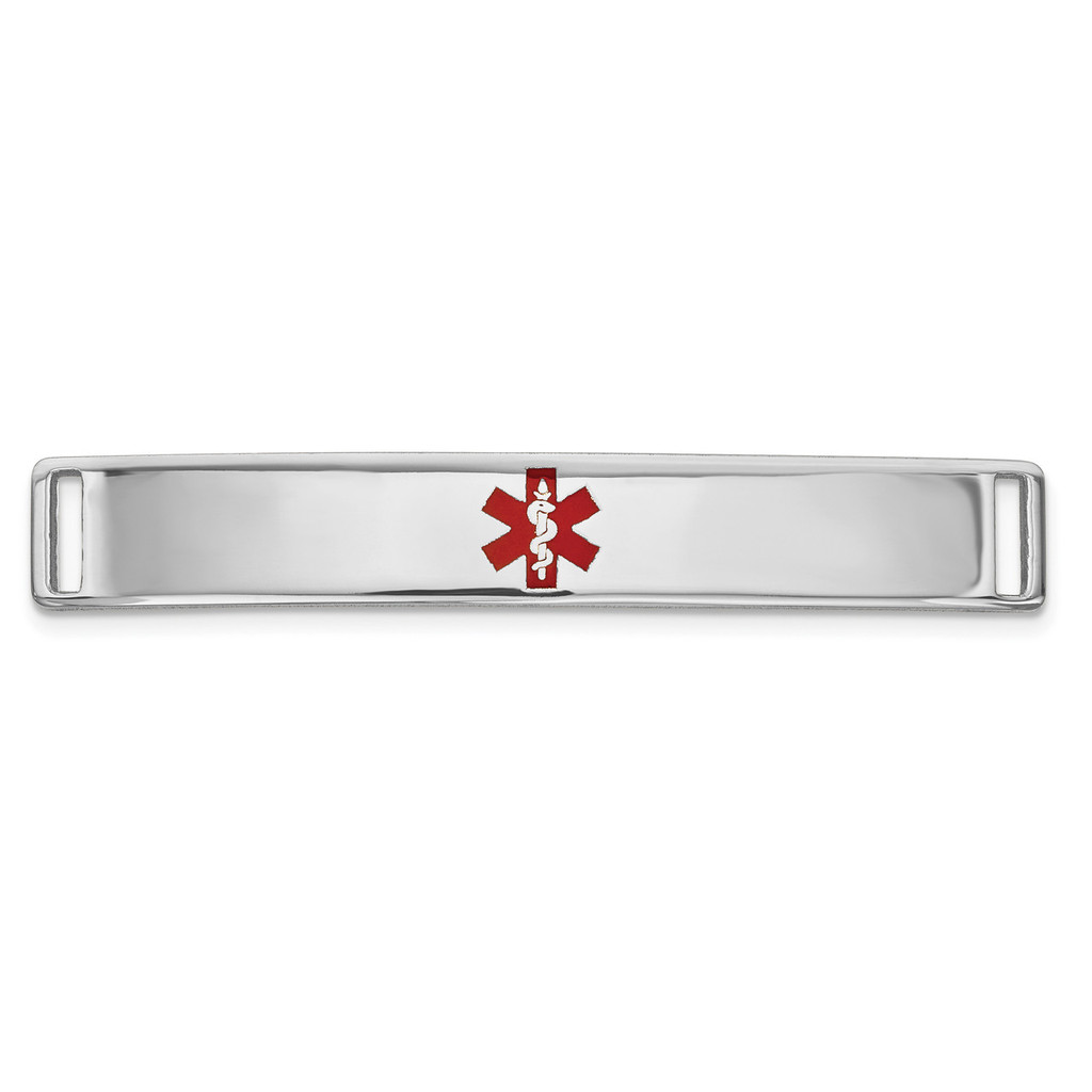 Epoxy Enameled Medical ID Ctr Plate # 818 14k white Gold MPN: XM648W
