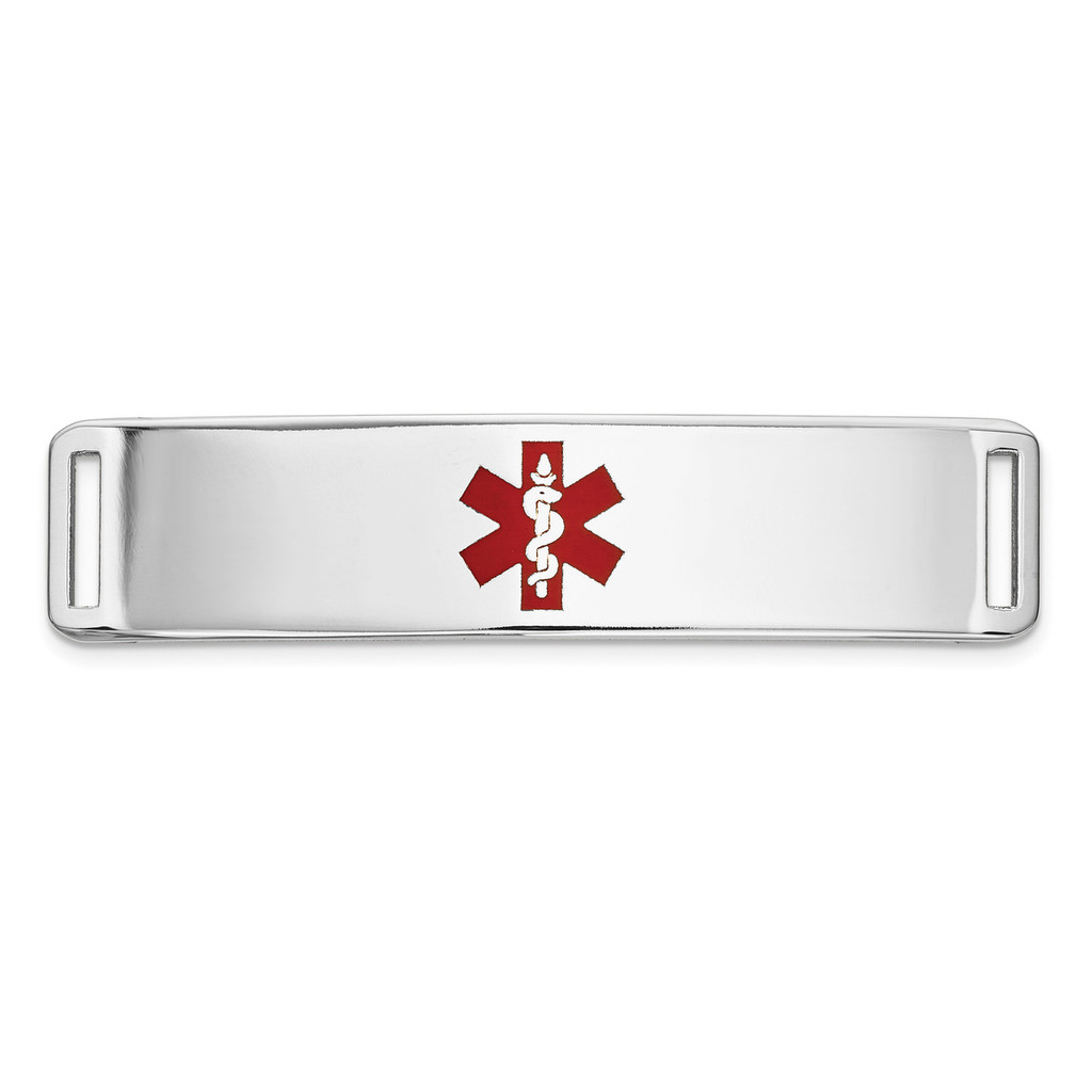Epoxy Enameled Medical ID Ctr Plate # 820 14k white Gold MPN: XM656W