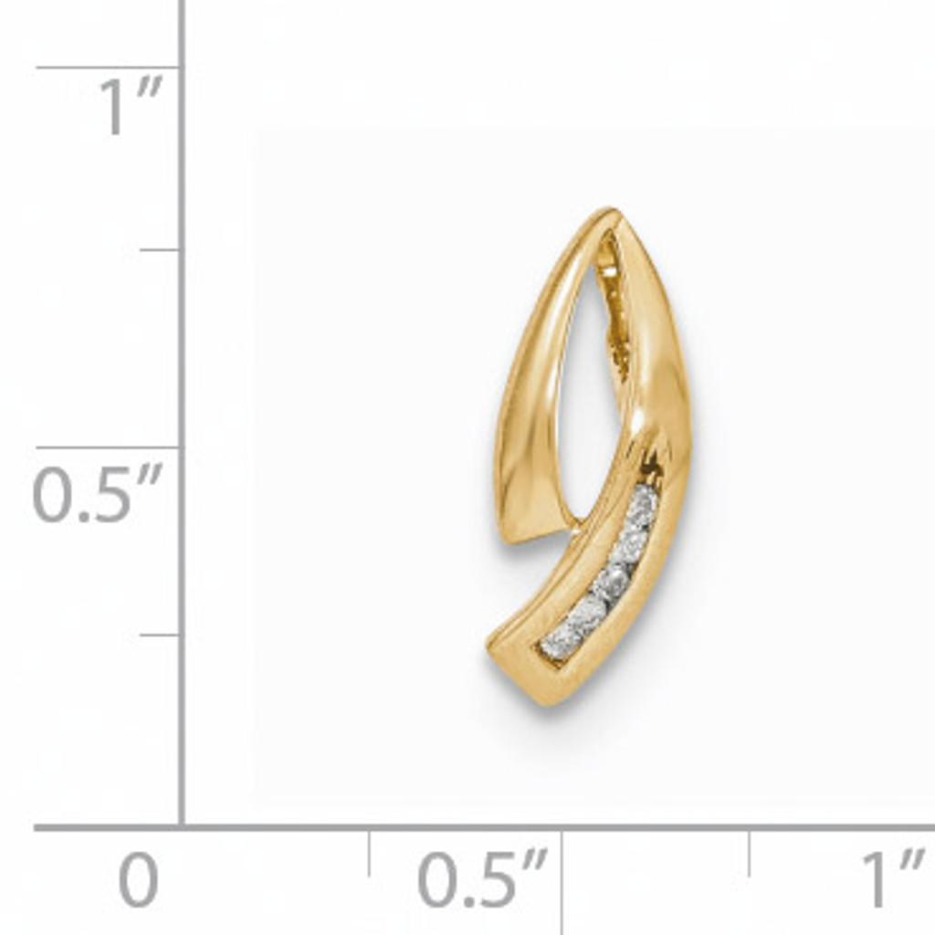 Yellow Gold Diamond Chain Slide 14k Gold XP5003A