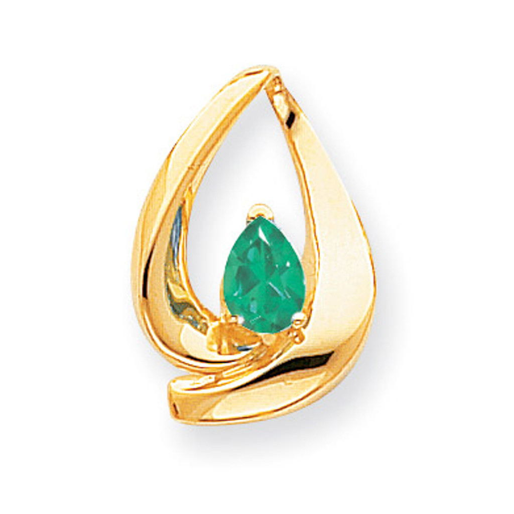 7x5mm Pear Emerald slide 14k Gold MPN: XS195E UPC: 883957270173