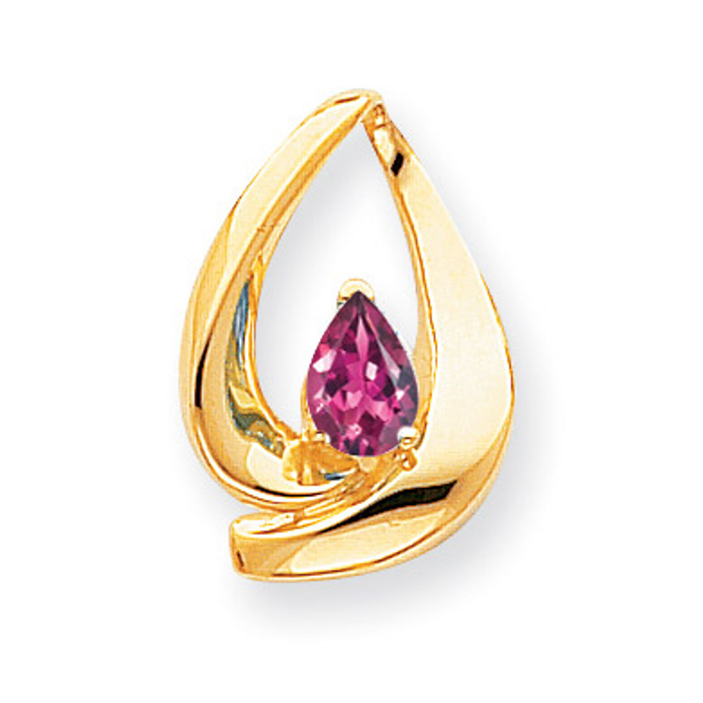 7x5mm Pear Pink Tourmaline slide 14k Gold MPN: XS195PT UPC: 883957270203