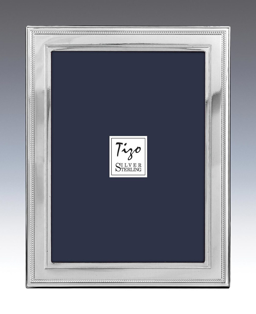 Tizo Two Bead 4 x 6 Inch Sterling Silver Picture Frame, MPN: 2012-46