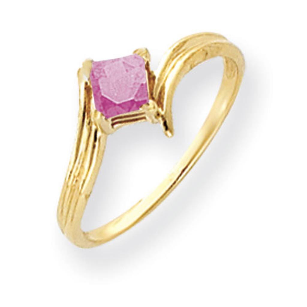 Pink Tourmaline Ring 14k Gold 4mm Princess Cut MPN: Y4781PT UPC: 883957663234