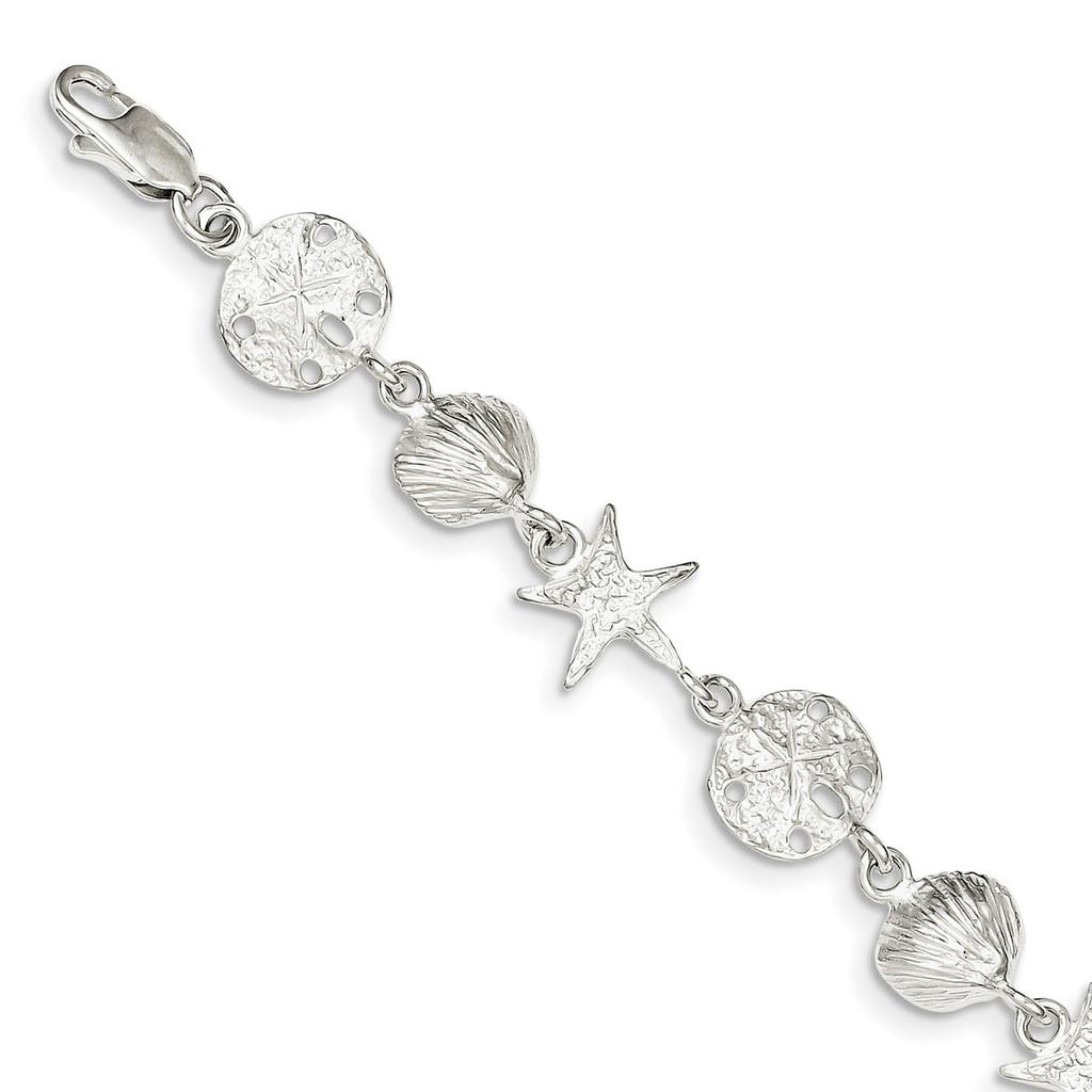 Seashells Bracelet 8 Inch Sterling Silver MPN: QA29-8