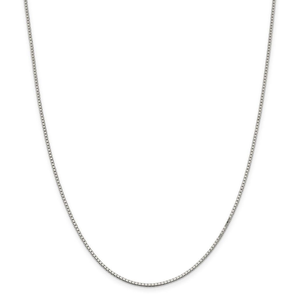 22 Inch 1.5mm Box Chain Sterling Silver MPN: QBX028-22