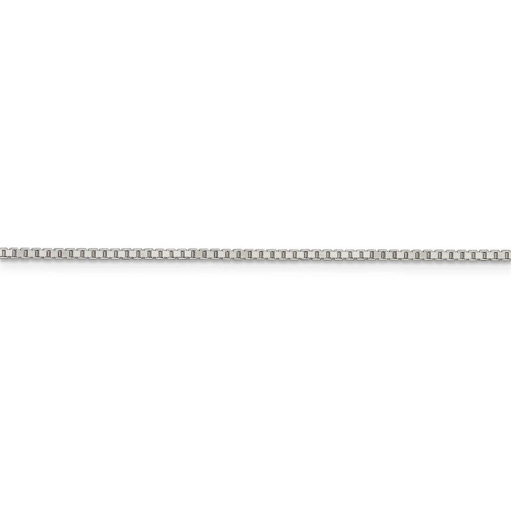 22 Inch 1.5mm Box Chain Sterling Silver QBX028-22