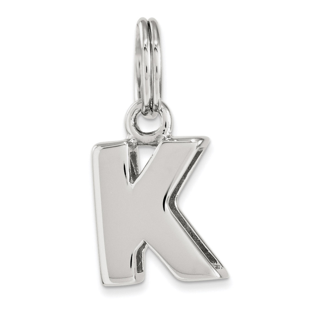 Letter K Charm Sterling Silver MPN: QC8460K, UPC: 191101366864