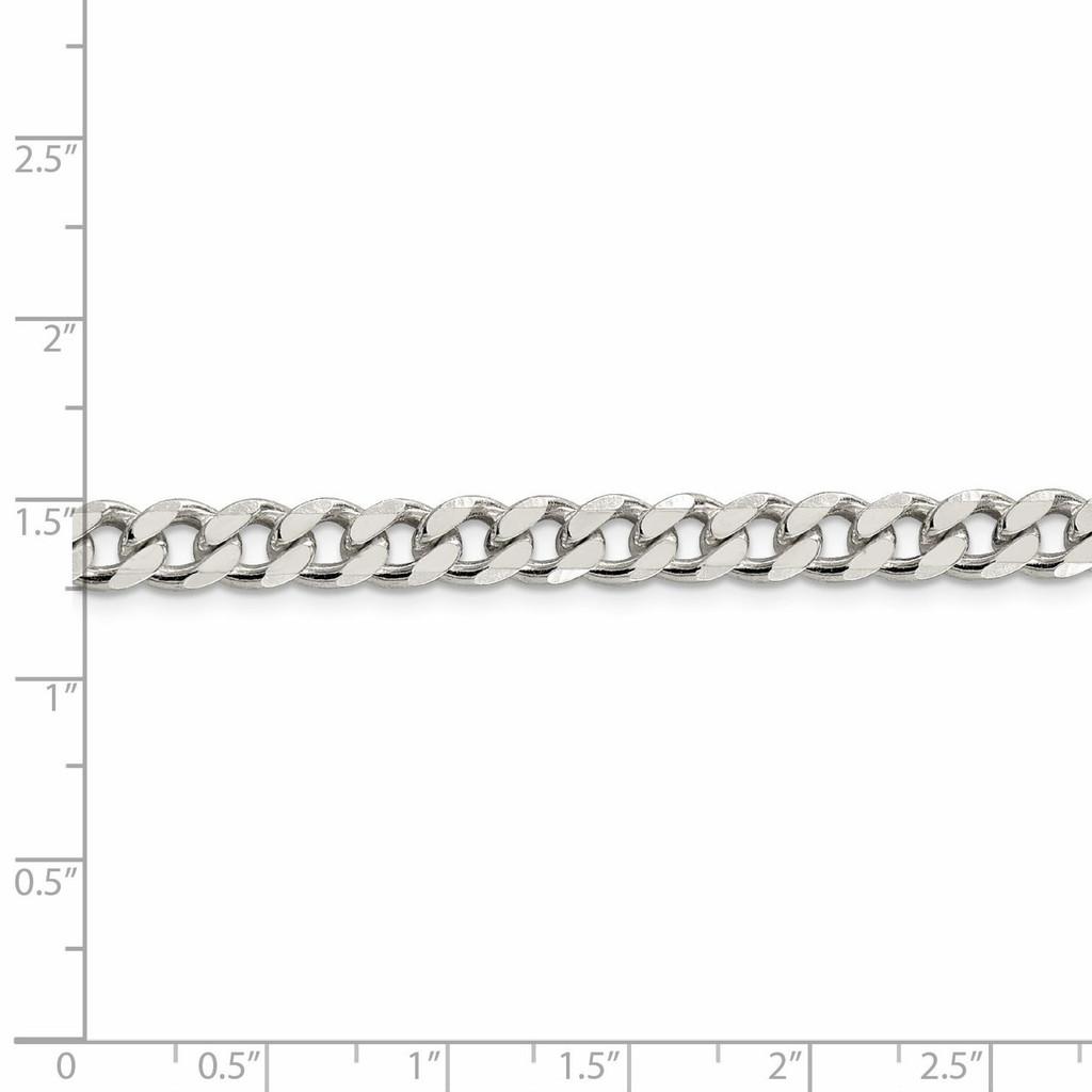 26 Inch 7mm Curb Chain Sterling Silver QCB180-26