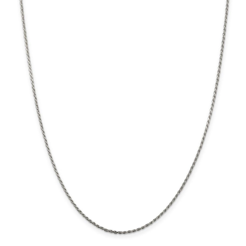 22 Inch 1.5mm Diamond-cut Rope Chain Sterling Silver MPN: QDC020-22