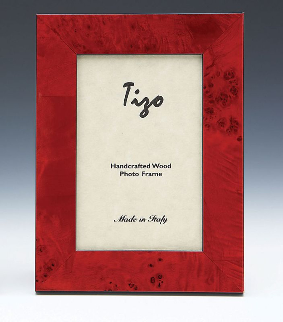 Tizo Ocean 5 X 7 Inch Wood Picture Frame Red Homebello