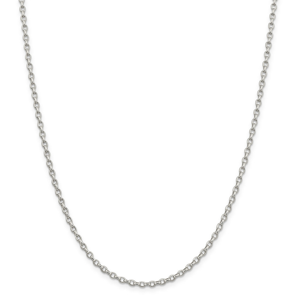 2.75mm Oval Rolo Necklace 16 Inch Sterling Silver MPN: QFC194-16