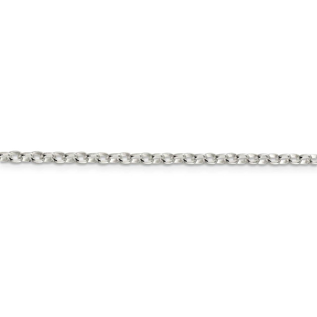 2.75mm Oval Rolo Necklace 16 Inch Sterling Silver QFC194-16