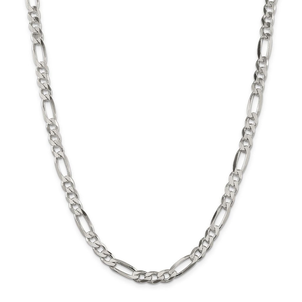 26 Inch 6.5mm Figaro Chain Sterling Silver MPN: QFG180-26