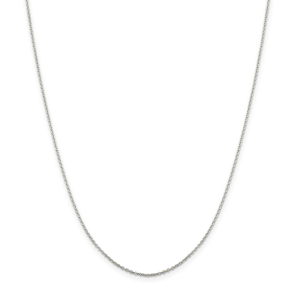 24 Inch 1.00mm Flat Cable Chain Sterling Silver MPN: QPE77-24, UPC: 886774421391