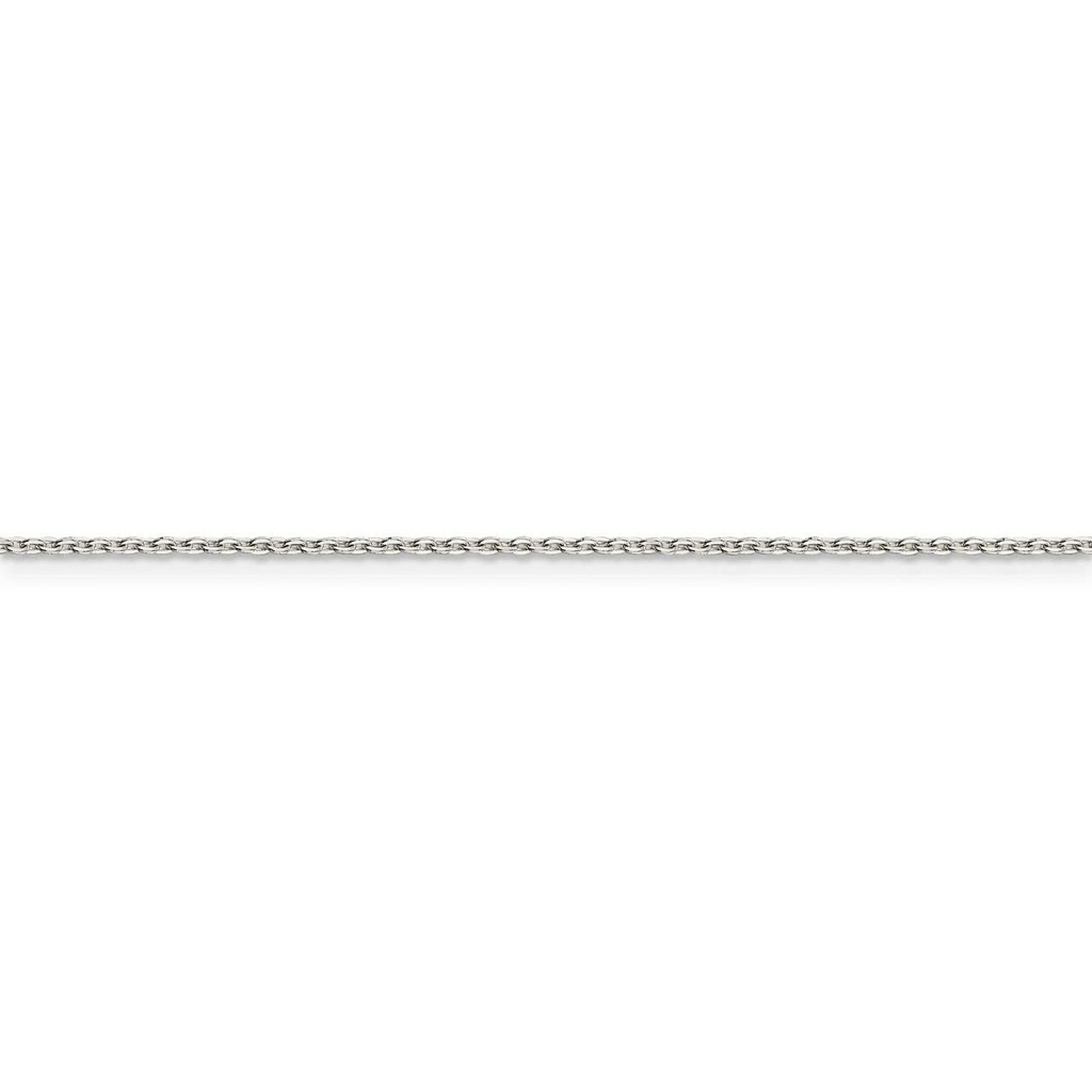 24 Inch 1.00mm Flat Cable Chain Sterling Silver QPE77-24
