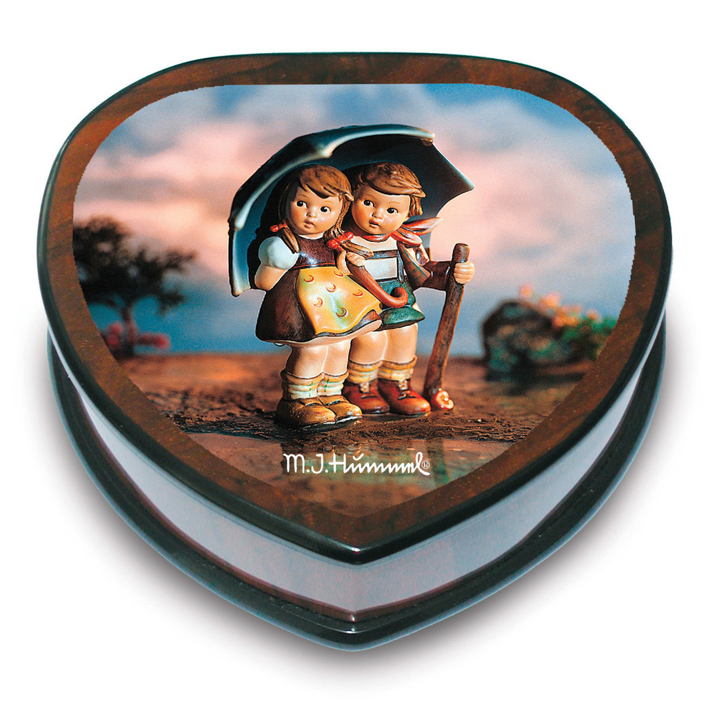 Artist Hummel Heart Shaped Stormy Weather Music Box, MPN: GM15100, UPC: 802192910583
