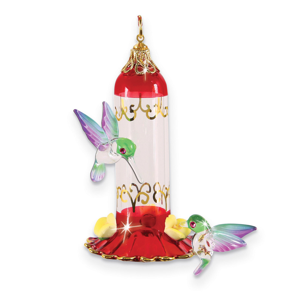 Hummingbird Feeder Ornament Glass Baron, MPN: GM15148, UPC: 708873031434