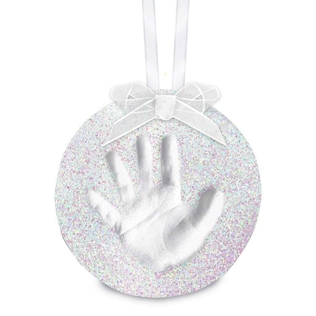 White Babyprints Glitter Ornament, MPN: GM15723, UPC: 698904500193