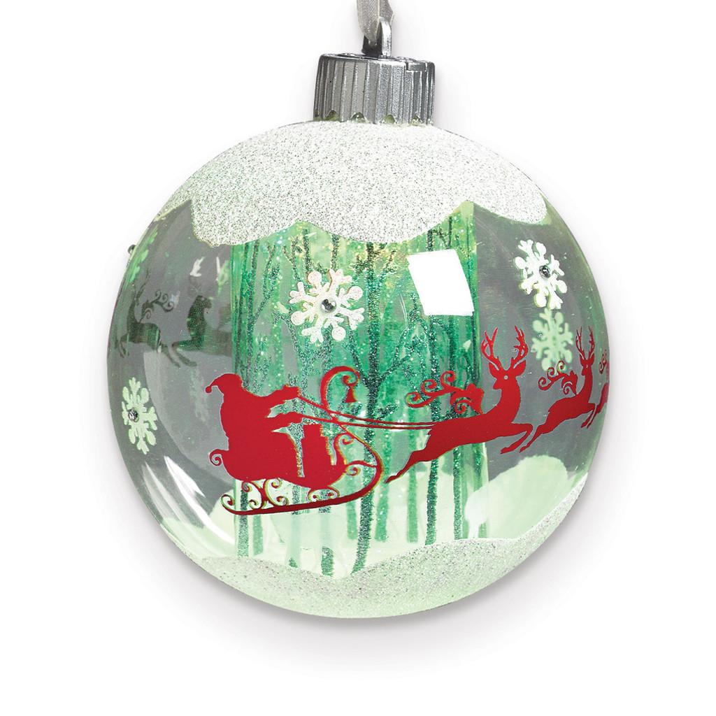 LED Santa In Sleigh Ornament, MPN: GM15775, UPC: 89945548181