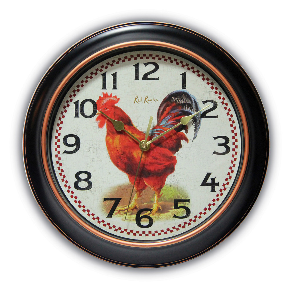 Rotterdam Rooster Dial Wall Clock with Silent Movement, MPN: GM17586, UPC: 731742014870