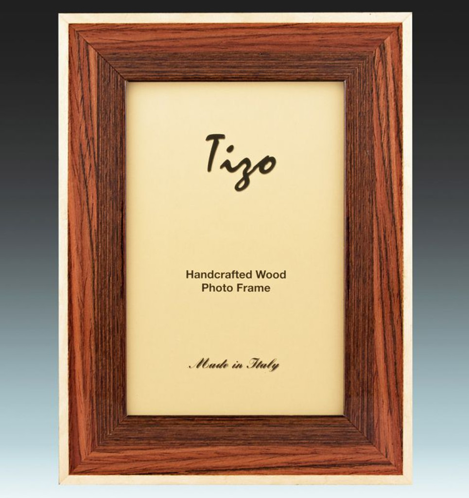 Tizo 8 x 10 Inch Blanco Border Wood Picture Frame - Brown