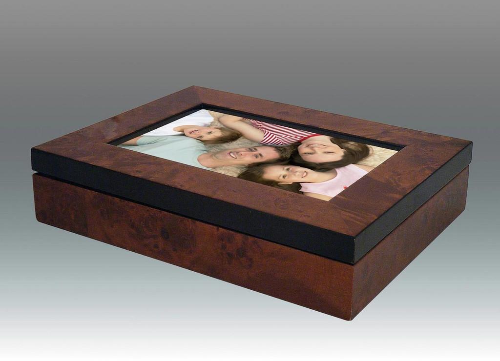 Tizo 4 x 6 Inch Photo Box Family Wooden Photo Box 340BRN4BX - Brown, MPN: 340BRN4BX