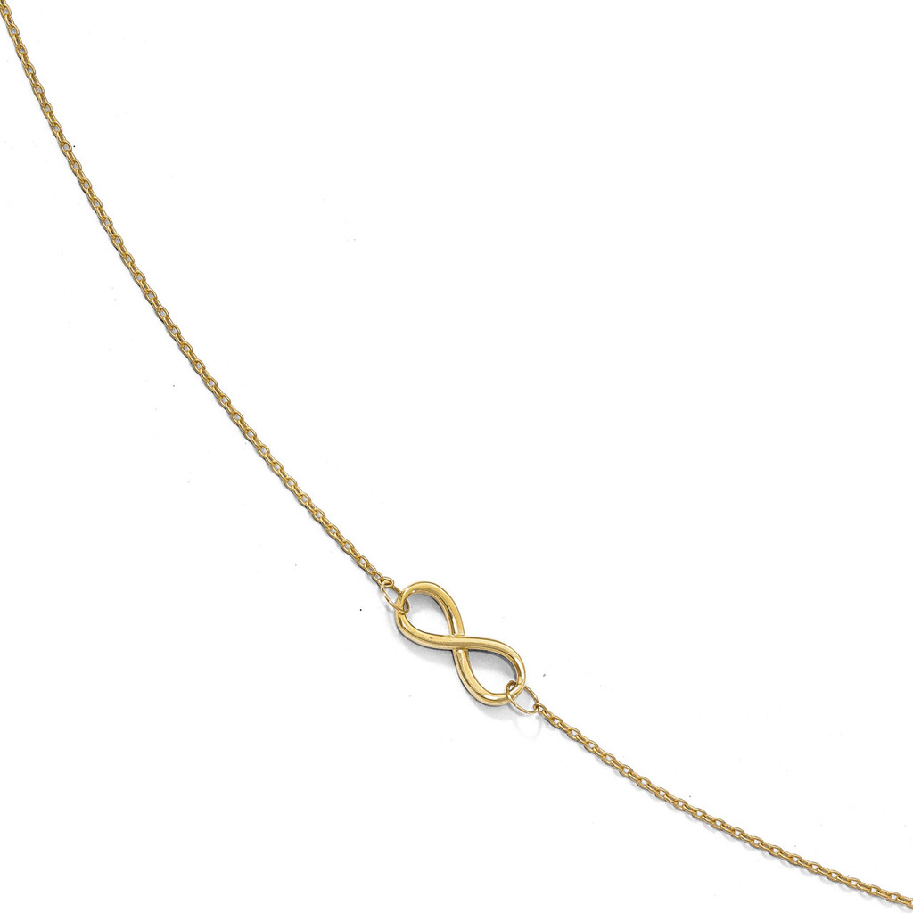 Infinity with 1 inch Extender Anklet 9 Inch 10k Gold Polished by Leslie's Jewelry MPN: 10LF549-9