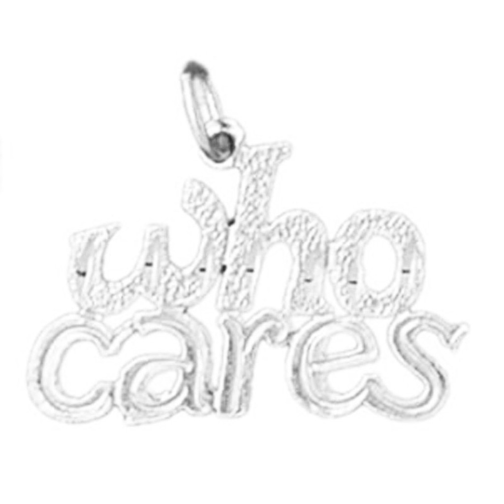 Who Cares Pendant Necklace Charm Bracelet in Gold or Silver 10701