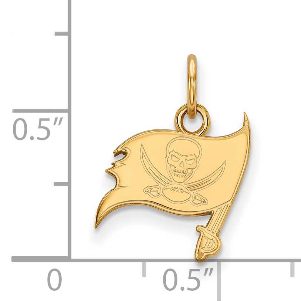 Tampa Bay Buccaneers x-Small Pendant - Gold-plated on Silver GP001BUC