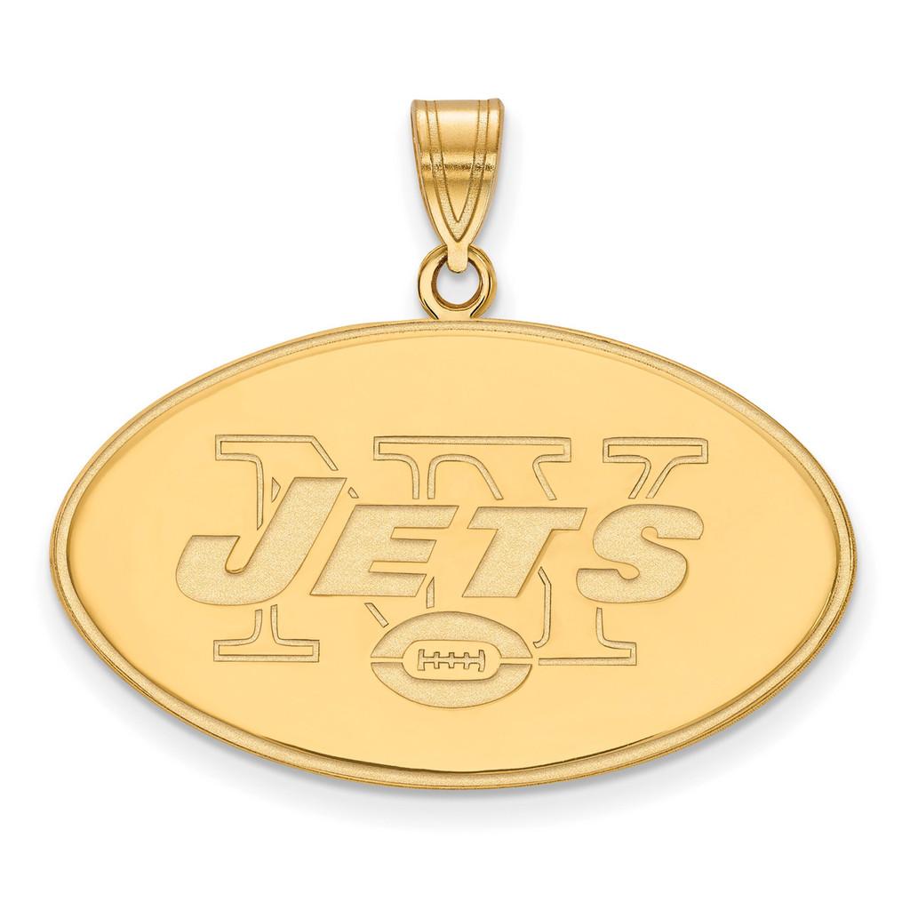 NFL New York Jets x-Large Pendant Gold-plated on Silver, MPN: GP005JET, UPC: 191101425431