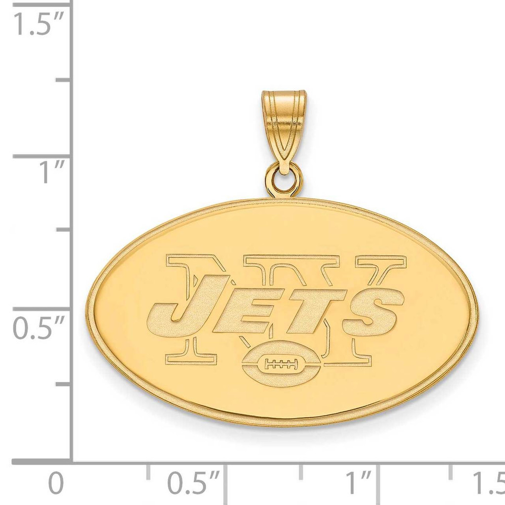 New York Jets x-Large Pendant - Gold-plated on Silver GP005JET