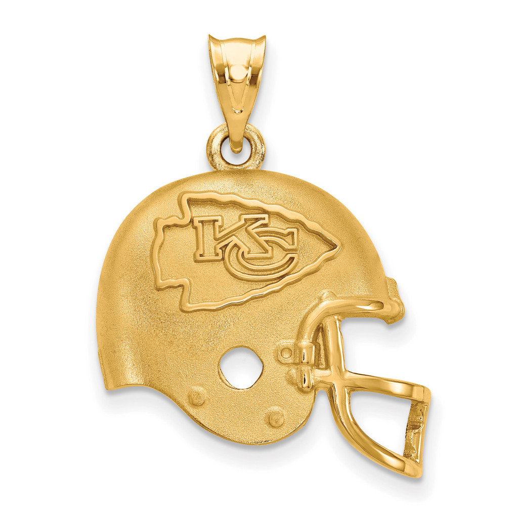 NFL Kansas City Chiefs Helmet Pendant Gold-plated on Silver, MPN: GP505CHF, UPC: 634401773258