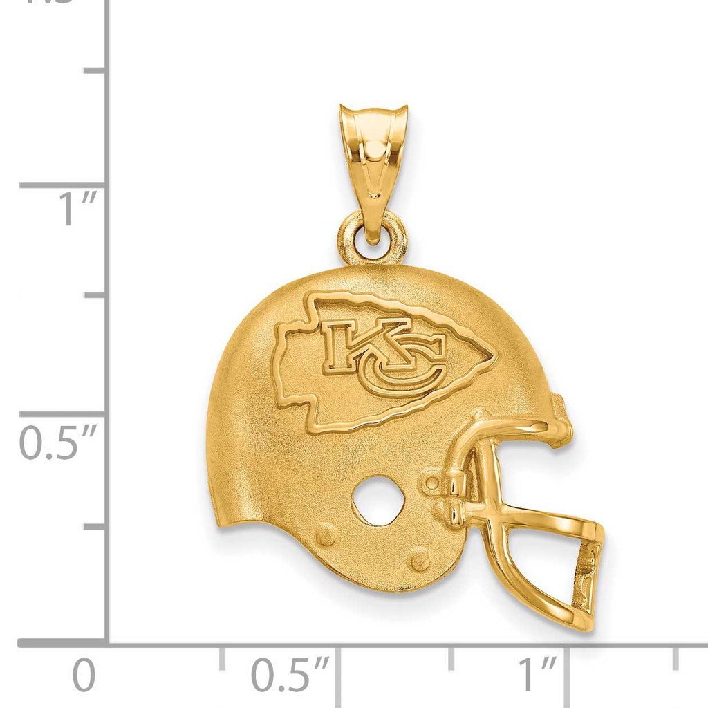 Kansas City Chiefs Helmet Pendant - Gold-plated on Silver GP505CHF