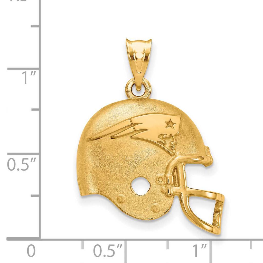 New England Patriots Helmet Pendant - Gold-plated on Silver GP505PAT