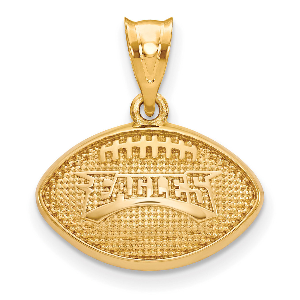 NFL Philadelphia Eagles Football Pendant Gold-plated on Silver, MPN: GP506EAG, UPC: 634401217110