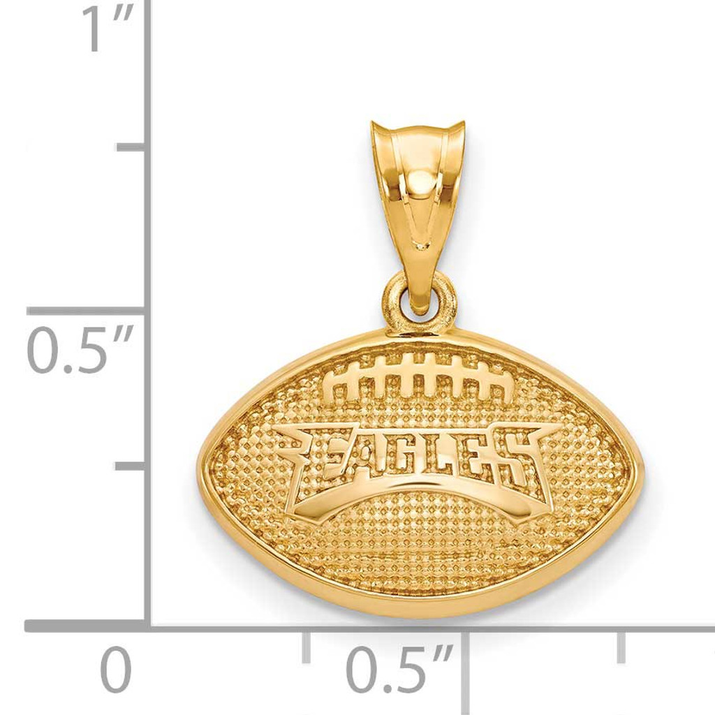Philadelphia Eagles Football Pendant - Gold-plated on Silver GP506EAG