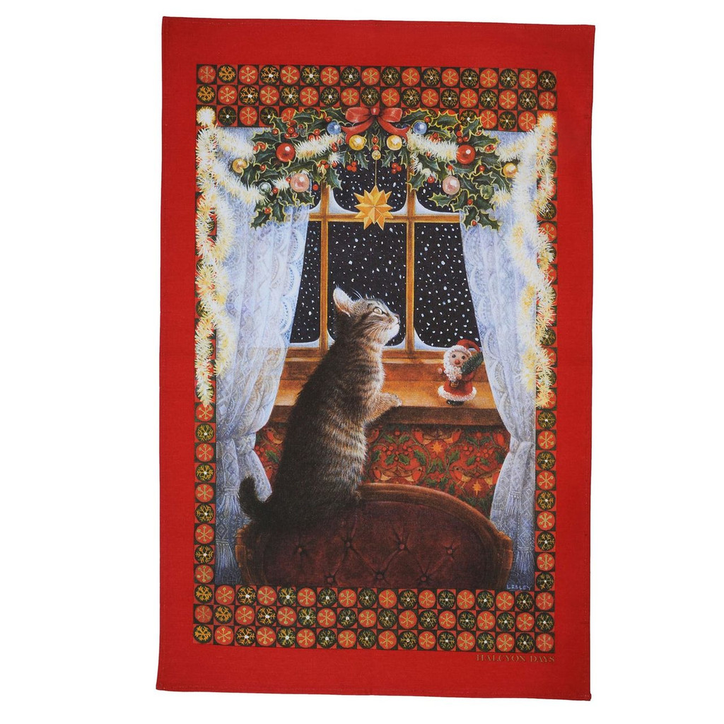 Halcyon Days LAI Christie Looking for Father Christmas Tea Towel, MPN: SALCF06TT, EAN: 5060171148869