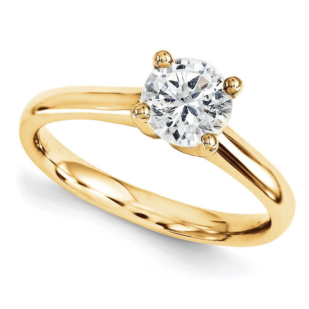 Solitaires Mounting Ring Band Prong Set Round 10k Yellow Gold Engagement Raw Casting, MPN: 1YM166-1