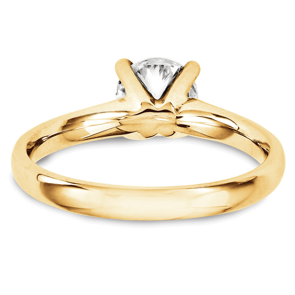 Solitaires Mounting Ring Band Prong Set Round 10k Yellow Gold Engagement Raw Casting 1YM166-1