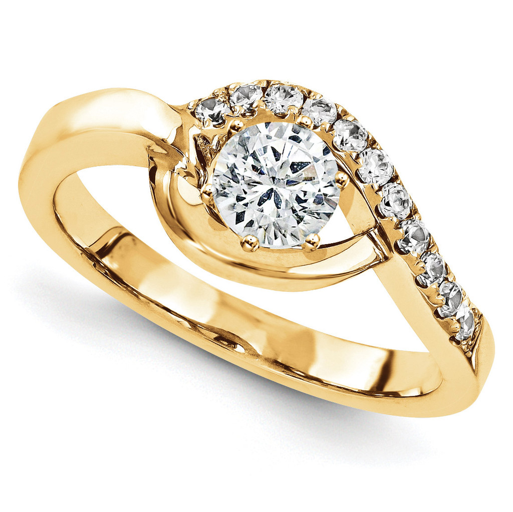 Engagement Mounting Ring Band 10k Yellow Gold Raw Casting, MPN: 1YM691-1